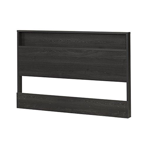 South Shore Holland Headboard with Shelf, Full/Queen 54/60-Inch, Gray Oak