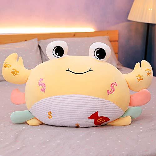 huobeibei Muñeca de Cangrejo de algodón de Plumas de Dibujos Animados Suave Linda con alicates Almohada de Peluche de Animales de mar obstinada para niñas como Regalos 35 * 50 cm (0.44 kg) Amarillo