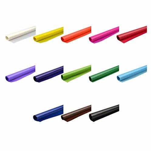 Creleo 79246 Transparentpapier 42g/m² 13 Bunte Farben 70x100cm Drachenpapier