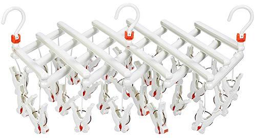 まがり堂 ひっぱりハンガー 29ピンチ/白色/ホワイト (補修部品も販売) (5色×3タイプ) (引っ張るだけピンチハンガー)