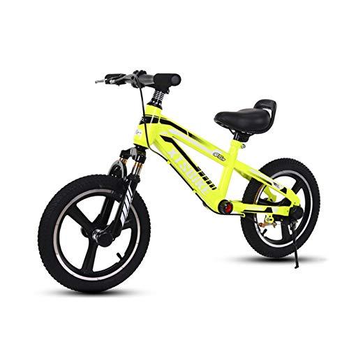 Bicicletas sin Pedales Bicicleta de Equilibrio para Niños Grandes, Neumáticos de Aire de 16 Pulgadas, Sin Bicicleta de Pedales con Freno y Manija y Asiento Ajustables, Marco Ligero, de 7 a 12 Años