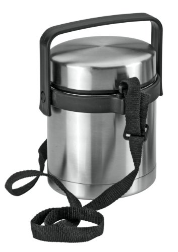 Metaltex Campus - Fiambrera-termo de acero inoxidable, 1 Litro