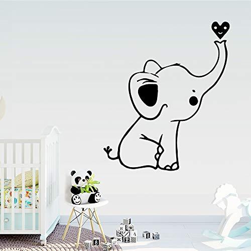 Tianpengyuanshuai Mooie olifanten muursticker voor kinderkamer decoratie