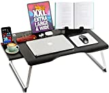 Cooper Cases MEGA TABLE 折りたたみ ローテーブル ラップデスク ミニ 机 ベッド ソファ ノートパソコン 膝上 65 x 49 x 27cm (ブラック)