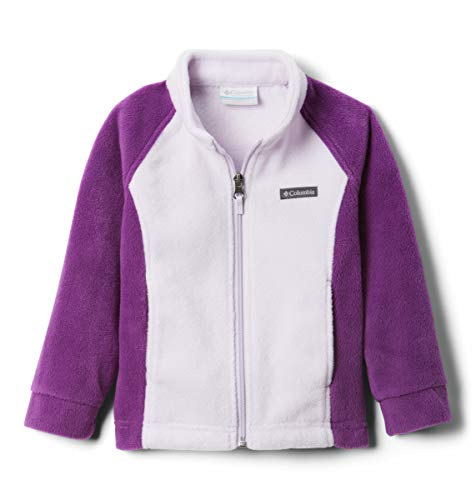 Columbia Benton Springs Fleece Giacca Pile, Prugna/Lilla di Classe, XL Bambina