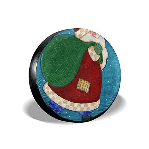 QQIAEJIA Spare Tire Cover Cute Christmas Protector de Rueda Weatherproof Poliéster Caja de neumáticos for All SUV Camper