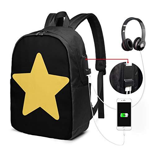 UxaliO Steven Universe Star Trendy Travel USB Backpack,17 Inch Computer Business Backpacks Student Backpack Casual Hiking Daypack
