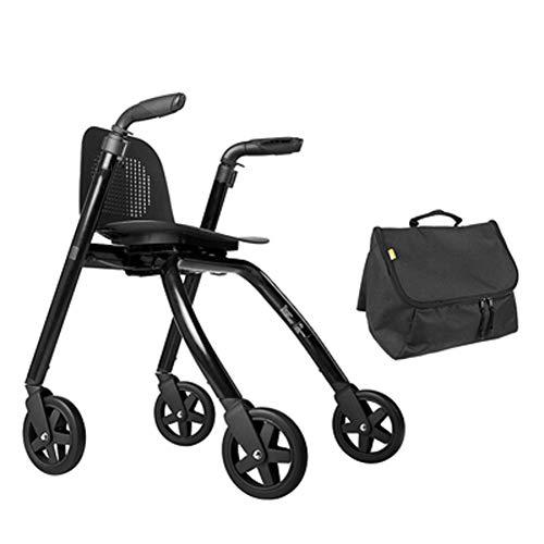 Behuizing Rollator opvouwbaar ultra licht opvouwbaar oprolbaar met vier wielen en vastzetbare remmen en ergonomische handgrepen