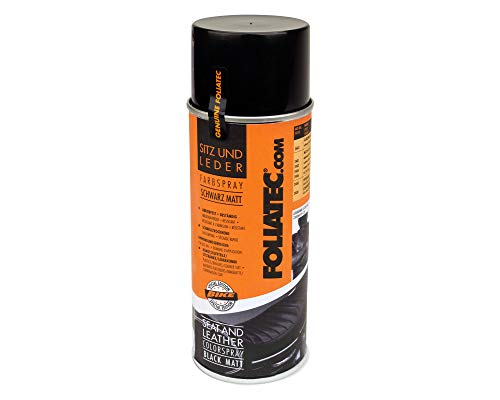 Foliatec 2402 Sitz- und Leder Farbspray für Kunststoffe, Leder und Kunstleder, Schwarz Matt 400 ml