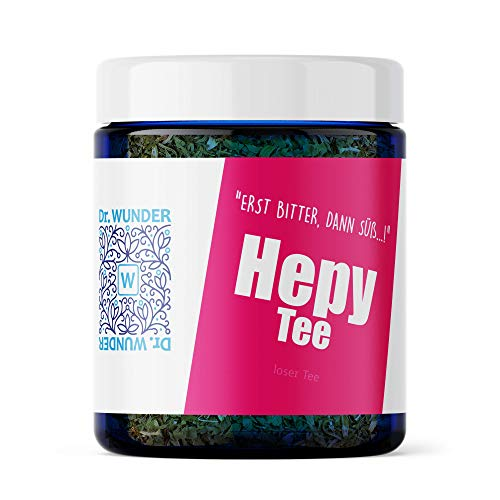 Dr. Wunder Hepy-Tee 80g Dose: Leber- und Gallenblasenreinigung | Kräutertee mit Chanca-Piedra in Apotheken-Qualität | wertvolle Bitterstoffen zur Stärkung der Leberfunktion