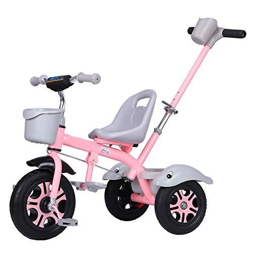 GIFT Premier Vélo Roue Molle Kids Tricycle Trike EVA, Siège Peut être Ajusté, Cadeau De Noël Nouvel an 2-6ans,B