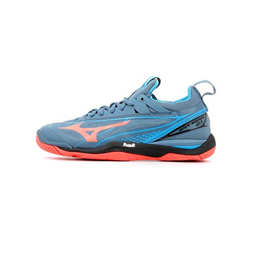 Mizuno Damen Wave Mirage 2.1 Sneakers, Mehrfarbig (Bluemirage/Fierycoral/Bl 001), 42 EU