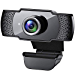 Webcam with Microphone, 1080P HD Streaming USB Computer Webcam [Plug and Play] [30fps] for PC Video Conferencing/Calling/Gaming, Laptop/Desktop Mac, Skype/YouTube/Zoom/Facetime (Renewed)