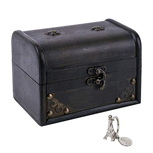 SICOHOME Treasure Box, 5.9' Tarot Cards Box for Trinkets,Taro Cards,Gifts and Home Decor