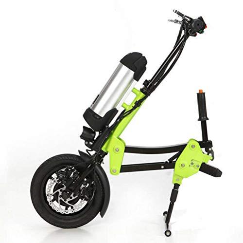 YEAY Accesorios para silla de ruedas eléctrica, 36 V 250 W para discapacidad, batería de iones de litio de 10 Ah, kit de conversión de silla de ruedas eléctrica, conector de soporte, verde