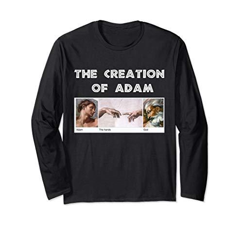 Creation of Adam Michelangelo Erschaffung von Adam Kunst Langarmshirt