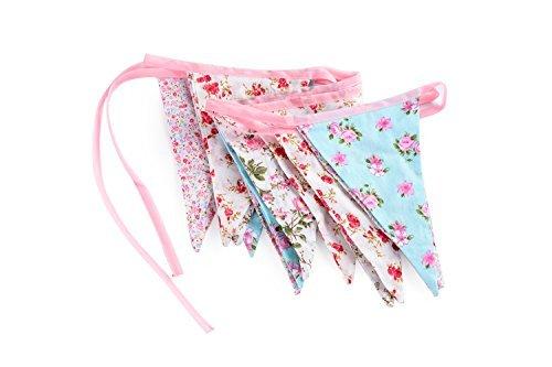 ASVP Shop Handmade fabric bunting vintage wedding shabby chic floral spot stripe gingham