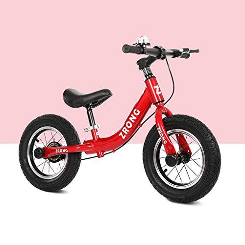 Bicicleta Sin Pedales De 12 Pulgadas Bicicleta De Equilibrio For 2-6 Años Niño Niña, Marco De Acero Al Carbono Con Freno, Sin Pedal De Bicicleta De Entrenamiento Ruta Equilibrio De Bicicletas For Niño
