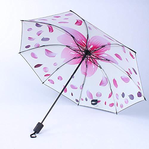 Warmwin Männer Frauen Faltschirm Mittelfinger Moon Follower Mode Regenschirm Anti-UV Sonnenschirm Weiblicher Regenschirm Schwarz VS