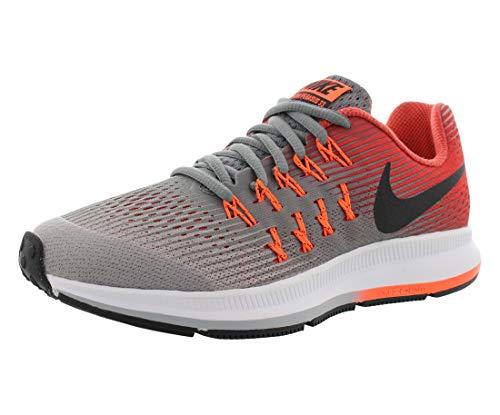Zapatillas de running Nike Zoom Pegasus 33 (GS) para ni?o (3.5Y-7Y) Cool Grey / Black / Wolf Gray / Track Red Size 3.5 M US