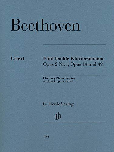 Fünf leichte Klaviersonaten: Klavier zu zwei Händen; Urtextausgabe