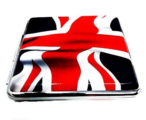 Zigarettenetui England, wehende Fahne, mit Gummiband