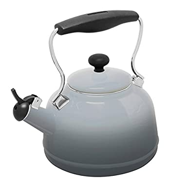 Chantal Lake Grey Enamel-on-Steel 1.7 Quart Vintage Teakettle