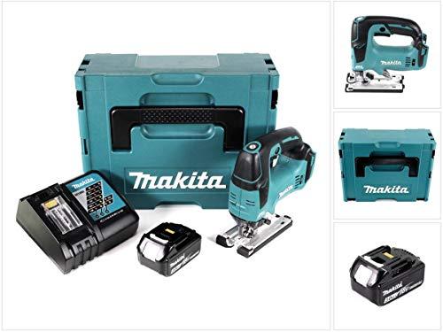 Makita DJV 182 RF1J accu decoupeerzaag 18V borstelloze 26mm in Makpac met 1x BL1830 3,0 Ah accu en DC18RC oplader