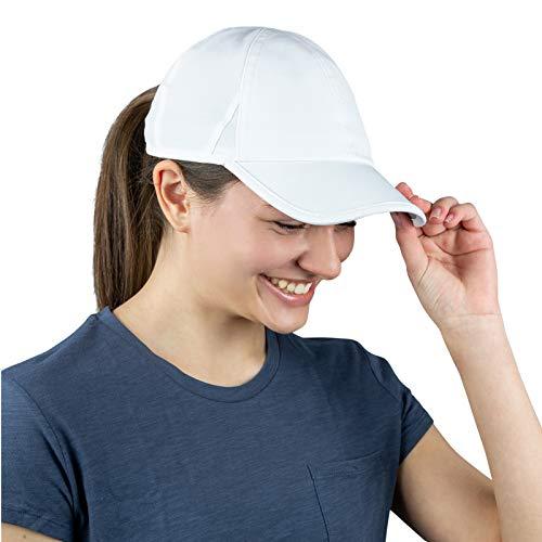 TrailHeads Laufkappe mit UV-Schutz | Kappe Damen | Damen Cap |Schirmmütze Damen - Weiß