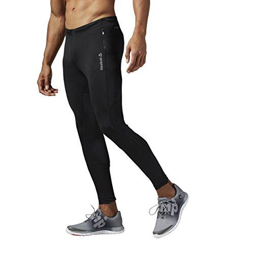 Reebok RE Long Tight - Mallas para Hombre, Color Negro, Talla XS