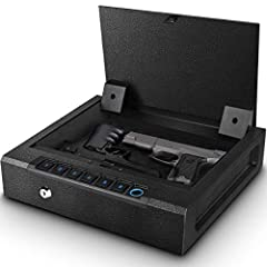 ✅【QUICK ACCESS Biometric Gun Safe for Pistols】 QUICK ACCESS to your gun safe and valuables, documents, and firearm(s) from the automatic opening door. Get in quick when it matters most using the rapid backlit keypad, spare key or biometric fingerprin...