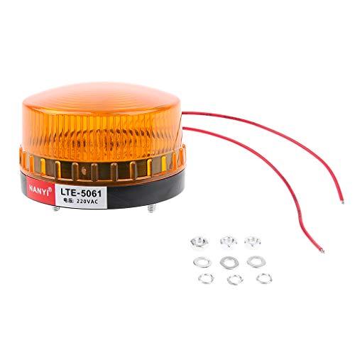 Homyl 220V LED Lampe d'Avertissant Phare Stroboscopique Strobe Éclairage d'urgence Lampe d'Arrêt