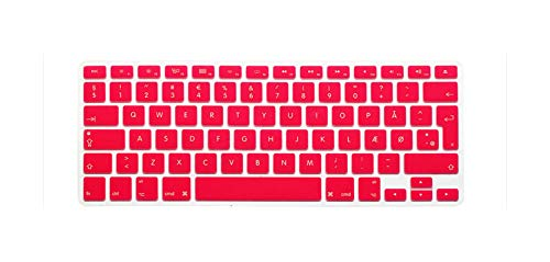Keyboard Cover Protector de pantalla de silicona para MacBook, MacBook Pro Air Retina 13, 15, 17, 13,3, 15,4, color rosa