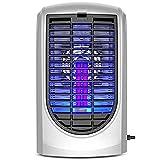 YANGLOU-Lámpara Mosquito Killer- Lámpara de asesino de mosquitos inhalada descarga eléctrica ABS púrpura onda ligera bajo consumo de energía sin ruido MWDLHGD-87 ( Color : Silver , Size : 19x13x32cm )
