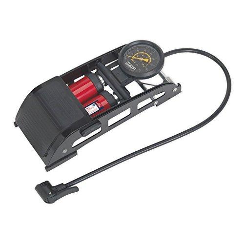 Sealey FP6 Doppelzylinder-Fußpumpe, Schwarz