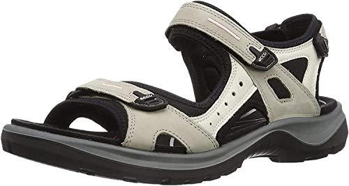 ECCO Damen OFFROAD Flat Sandal, Beige (ATMOSPHERE/ICE W./BLACK), 40 EU