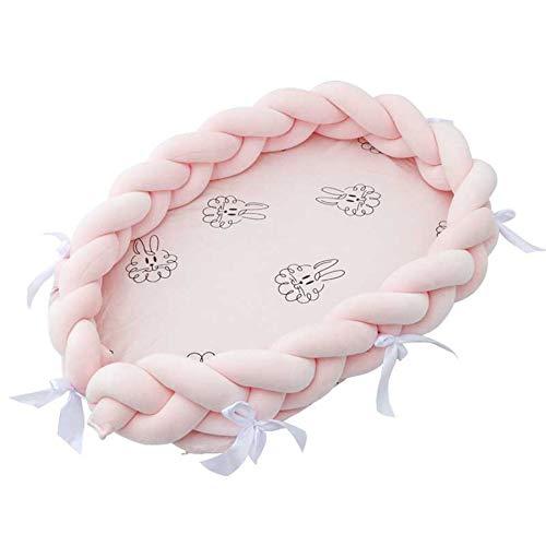 Cama biónica de algodón con nido de bebé potable, cama de bebé tejida lavable, camas de viaje para cuna con parachoques, colchón para recién nacidos para bebés