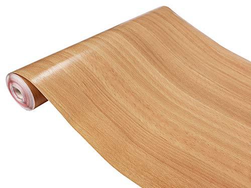 Askol DecoMeister Klebefolien in Holz-Optik Holzfolien Deko-Folien Holzdekor Selbstklebefolie Möbelfolie Selbstklebend Buche Geplankt Mittel 45x200 cm