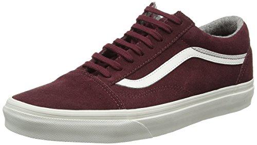 Vans Old Skool Scarpe da skater, Basse, Unisex, Adulto, Rosso (Varsity Suede Red Mahogany/Blanc de Blanc), 40