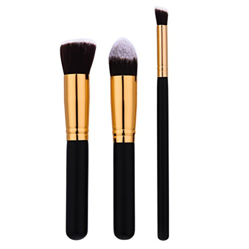 Frcolor Pinceau de Maquillage Foundation Rougir Poudre Mélange Outil de Cosmétique 3pcs