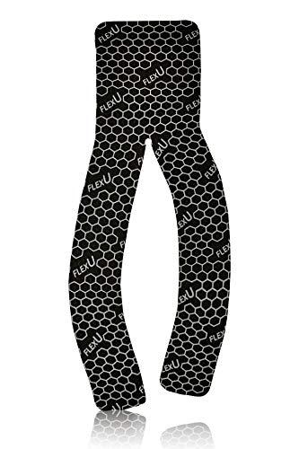 FLEXU - Supreme Kinesiology Tape avec eBook gratuit (français non garanti), lot de 2 rouleaux de ruban adhésif prédécoupés, en forme de Y noir.