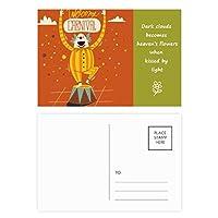 ベニスのカーニバルのの幸せな道化師 詩のポストカードセットサンクスカード郵送側20個