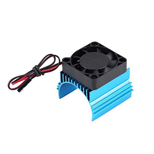 Dilwe RC Cooling Fin, Universal RC Motorkühlung Kühlkörper mit Lüfter für 1/10 RC Car 4074/4274/1515 RC Ersatzteil