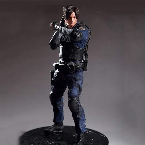 DMCMX Resident Evil 2 Raccoon City Policier Leon Scott Kennedy Service de Police Entrant du modèle de Personnage 1/6 Modèle Jeu Décoration Statue périphérique 32CM Bureau Décoration