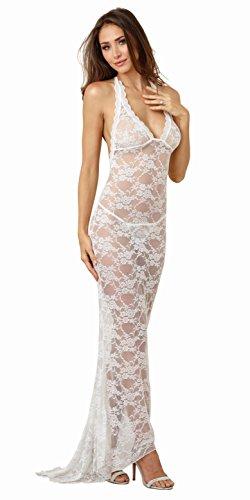 Dreamgirl Damen Lace Bridal Gown with Back Train Unterwäsche-Set, Weiß (White 001), 40 (Herstellergröße: Large)