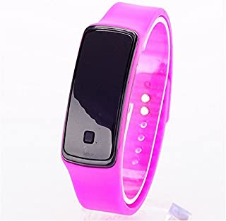 JUYIN Touch Screen Fashion Sport LED Watch,Candy Color Silicone Rubber Touch Screen Ultra Thin Jelly Digital Watches Women Men Kids Casual Wristwatch