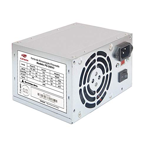 Fonte Atx 200W, C3Tech, Acessórios para Computador