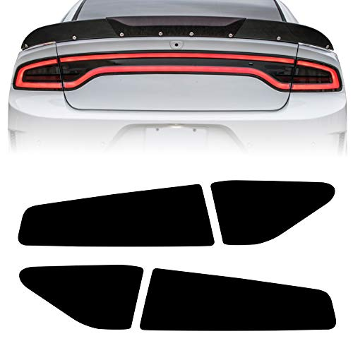 NDRUSH Blackout Taillight Vinyl Tint Film, Precut Overlays, Tail Light Wrap Cover Compatible with Dodge Charger 2015 2016 2017 2018 2019 2020 2021
