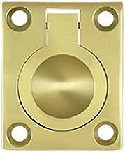 Deltana FRP175U3 1 3/4-Inch x 1 3/8-Inch Solid Brass Flush Ring Pull