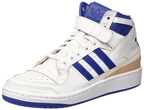 adidas Herren Forum Mid (Wrap) Basketballschuhe, Mehrfarbig (Ftwr White/collegiate Royal/ftwr White), 36 EU